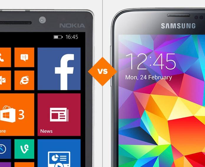 Lumia 930 e Galaxy S5? Quem vence a batalha? (Foto: Arte/TechTudo)