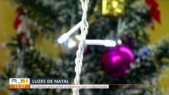 RJ1 mostra cuidados necessários para evitar problemas com as luzes de Natal