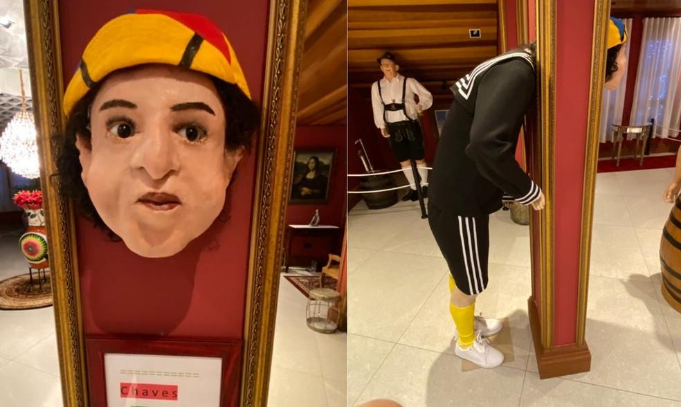 No museu em Rolândia, visitante também poderá ver uma estátua do Kiko  — Foto: Arlindo Armacollo/Arquivo pessoal