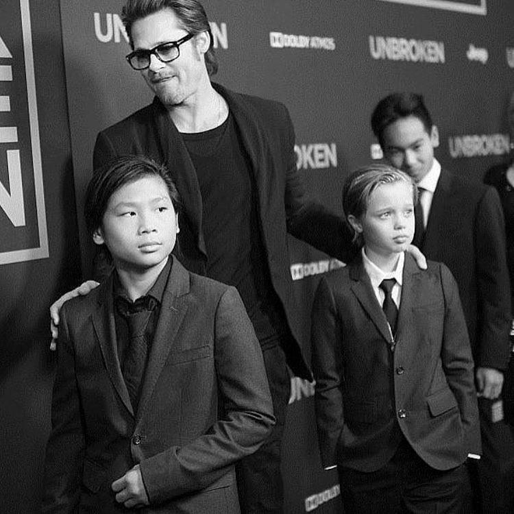 Pax Jolie-Pitt e Brad Pitt (Foto: Reprodução Instagram)