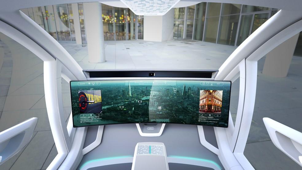 Interior do conceito de Airbus e Audi — Foto: Divulgação