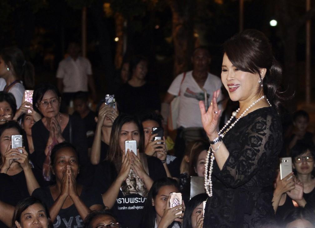 Imagem de outubro de 2017 mostra a princesa Ubolratana Mahidol da Tailândia — Foto: AP Photo