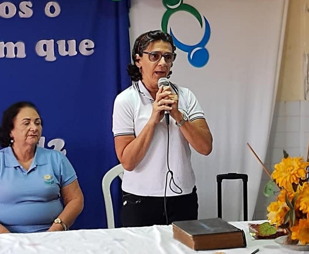Germana em evento realizado na APAE, em Campina Grande — Foto: APAE/Divulgação