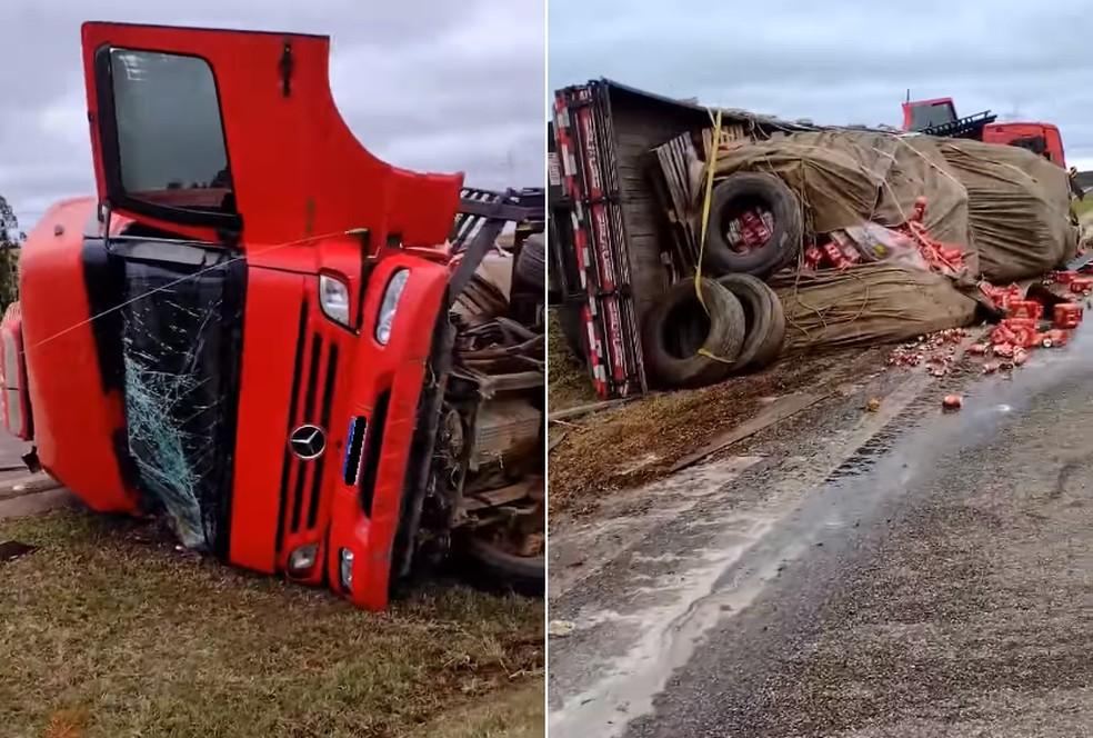 Apesar dos danos materiais, ninguém ficou ferido em acidente entre Itapetininga e Capão Bonito — Foto: Celso Roque Dias/Arquivo pessoal