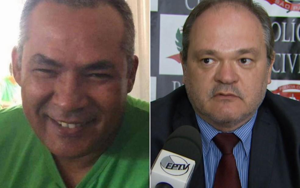 Os policiais civis Cláudio Rodrigues Magalhães e Márcio Barbosa Macedo morreram com Covid-19 em Ituverava, SP — Foto: Reprodução