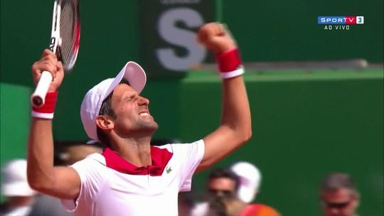 Melhores momentos de Djokovic 2 x 0 Coric pelo Masters 1000 de Monte Carlo