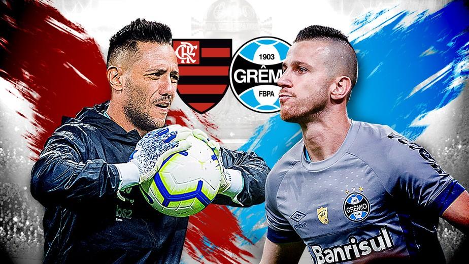 E se der pênaltis? Veja o retrospecto de  Diego Alves e PV antes de Flamengo x Grêmio