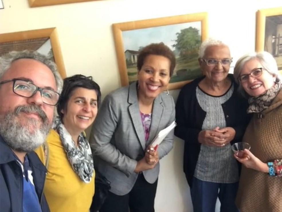 Encontro da Aliança Internacional das Mulheres do Café (IWCA) antes da pandemia — Foto: Arquivo pessoal