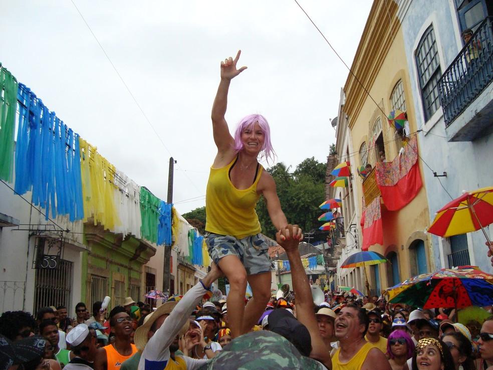 Luciana Pinto é a musa inspiradora do bloco Mulher na Vara (Foto: Divulgação)