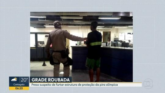 Preso suspeito de roubar grade de proteção da pira olímpica