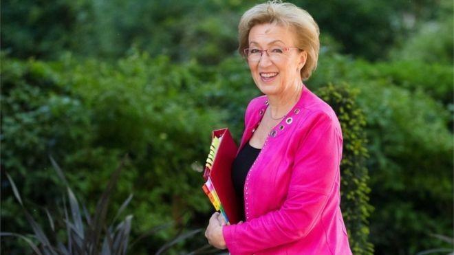 Andrea Leadsom renunciou após May anunciar conteúdo de novo acordo (Foto: EPA via BBC)