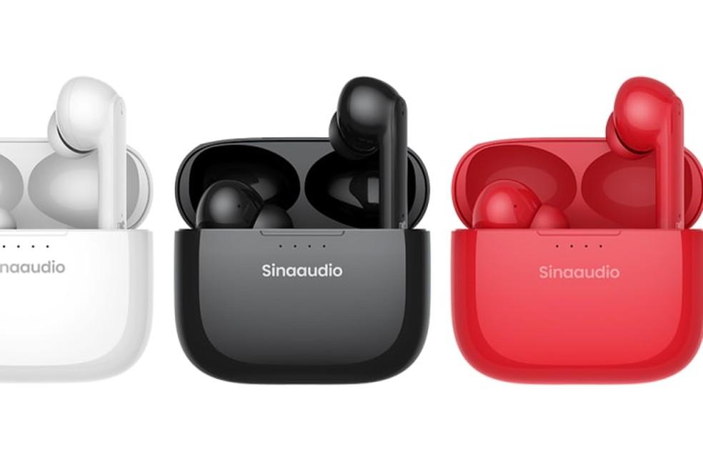 Sinaaudio T20 está disponível em três opções de cores — Foto: Divulgação/Sinaaudio