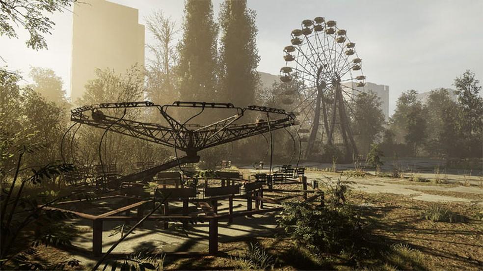 Chernobylite impressionte com uma história de terror em uma recriação digital de Chernobyl — Foto: Reprodução/Steam