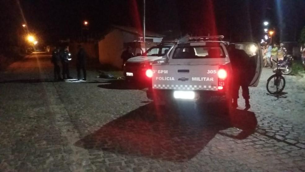 Policial reformado é morto a tiros na Grande Natal (Foto: Sérgio Henrique Santos/Inter TV Cabugi)