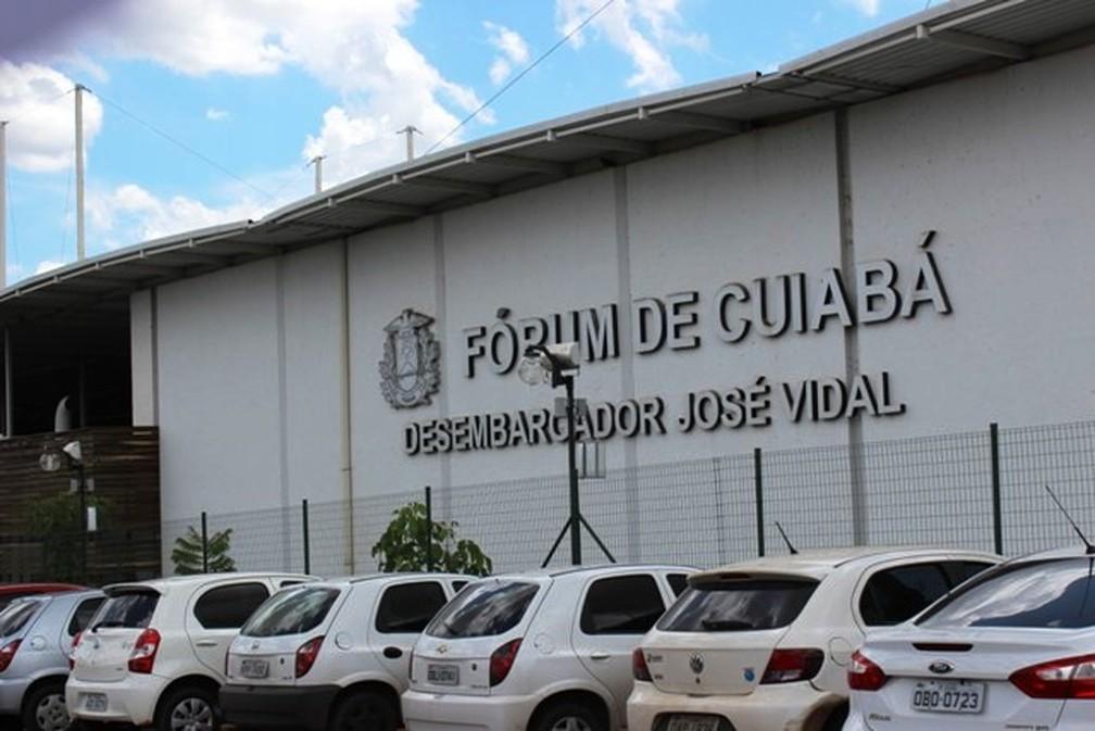 Fachada atual do Fórum de Cuiabá — Foto: TJMT/Divulgação
