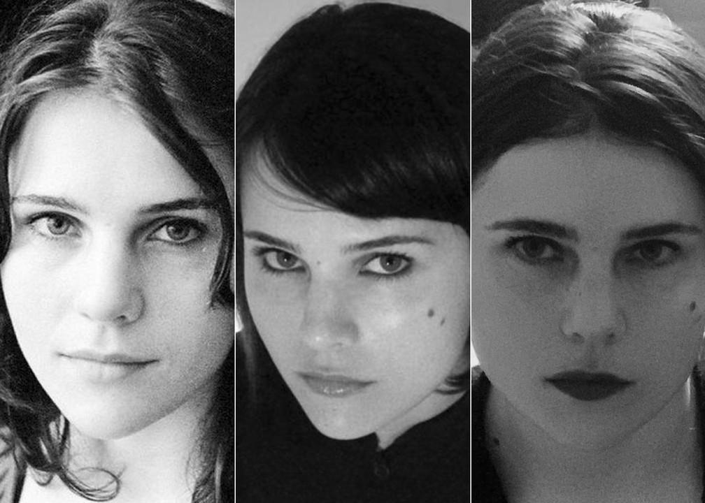 Paula Marchesini em foto dos tempos da banda Brava, em 2004, e em dois momentos da carreira solo: em 2010 e 2020 — Foto: Divulgação