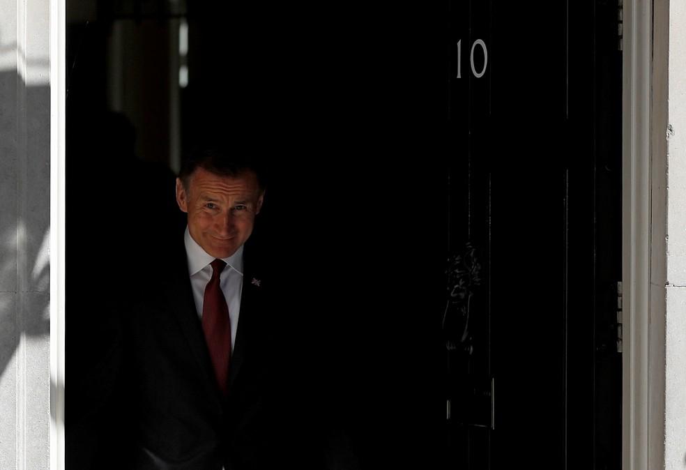 Jeremy Hunt foi candidato ao cargo de primeiro-ministro do Reino Unido — Foto: Peter Nicholls/Reuters