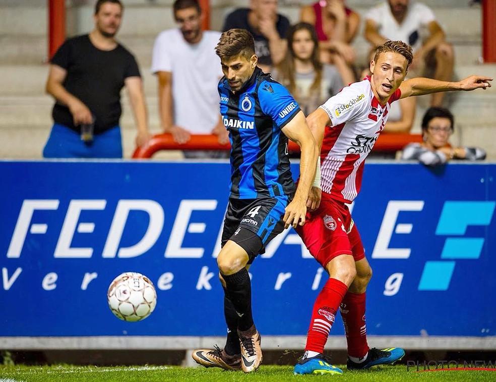 Luan Peres em ação pelo Club Brugge — Foto: Reprodução