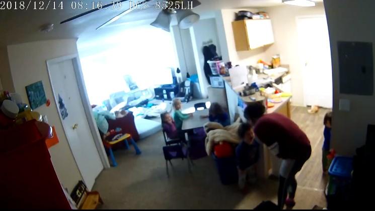 Vídeo mostra babá sendo agressiva com as crianças (Foto: Reprodução Facebook)