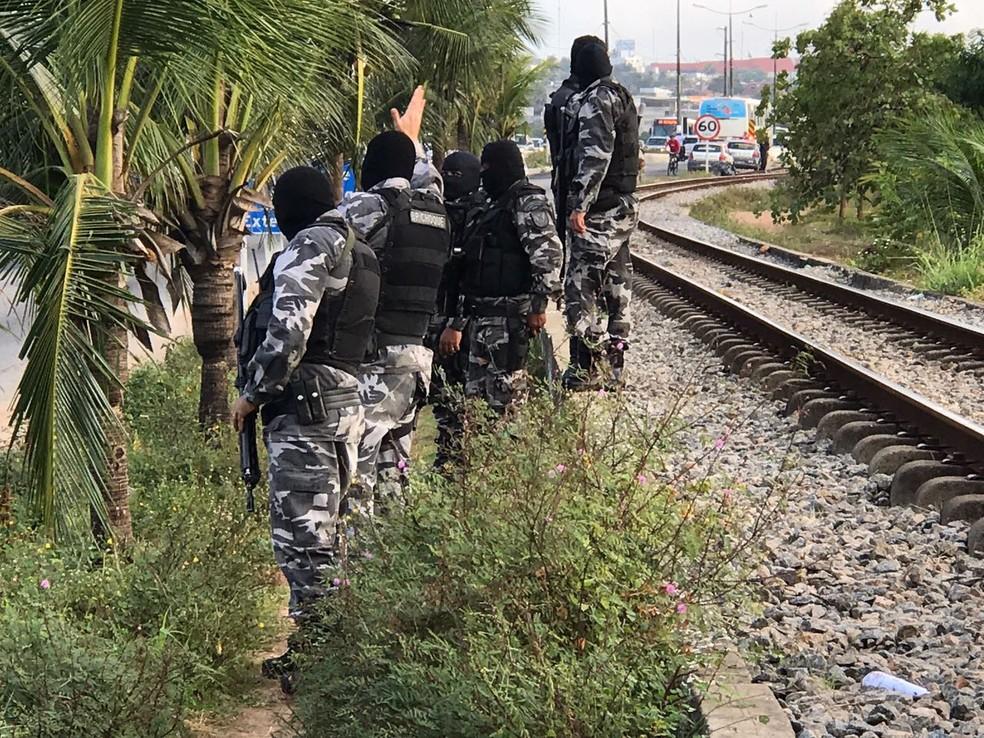 Polícia Militar realiza 'Operação Saturação' na Grande Natal (Foto: Kleber Teixeira/Inter TV Cabugi)