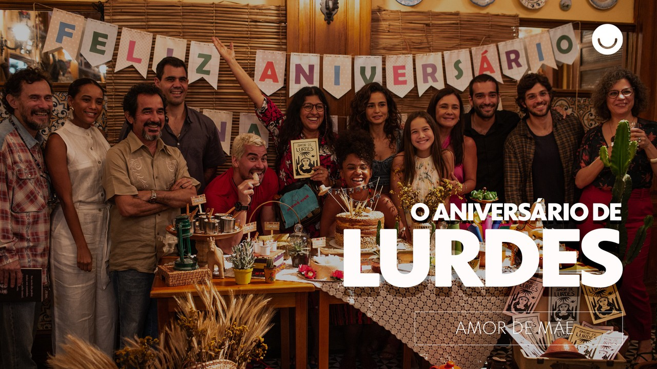 Confira os bastidores do aniversário de Lurdes