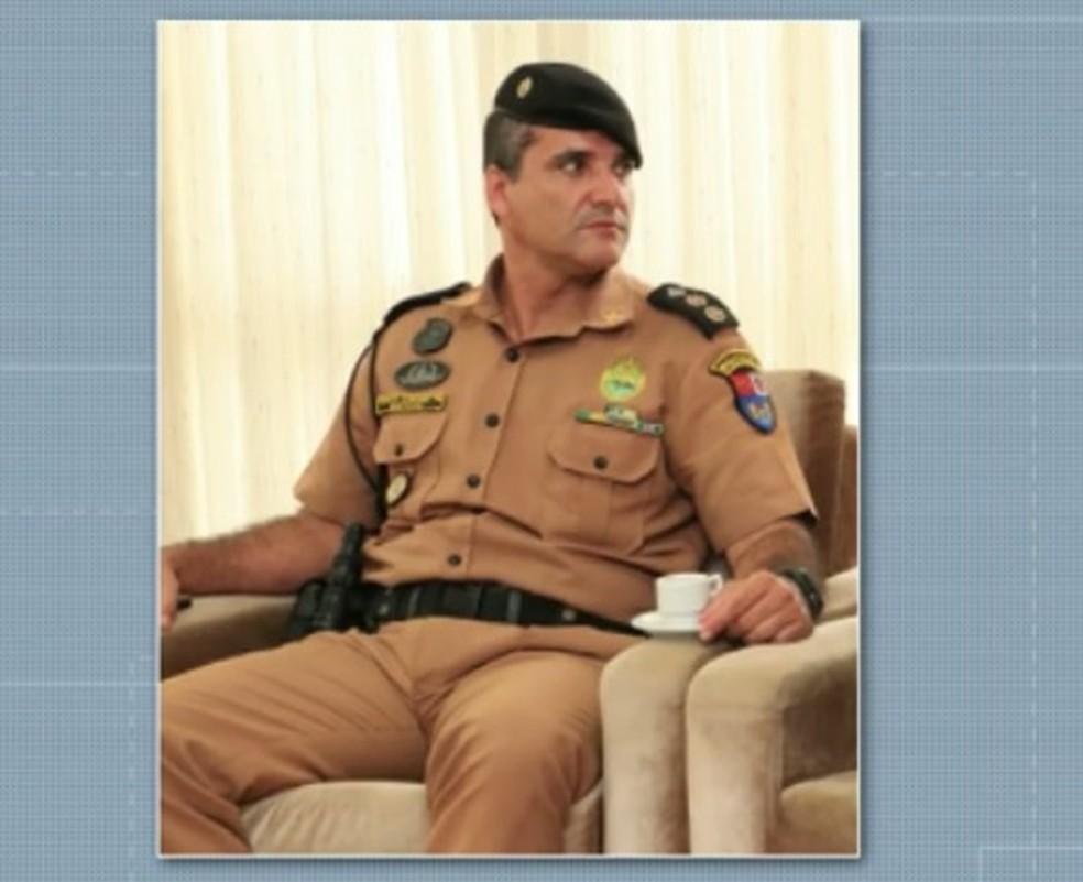 Tenente-coronel Gustavo Alfonso Rocha ficará afastado do comando da PM em Toledo — Foto: Reprodução/RPC