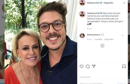 Fabio Porchat deseja força à amiga: 'Estamos todos torcendo pela sua recuperação' Reprodução/Instagram