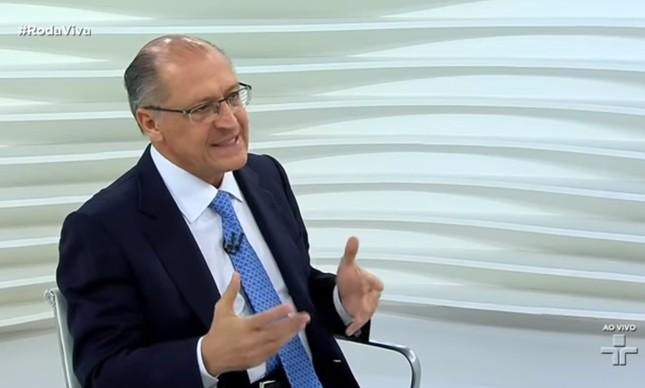Alckmin participa do Roda Viva, da TV Cultura