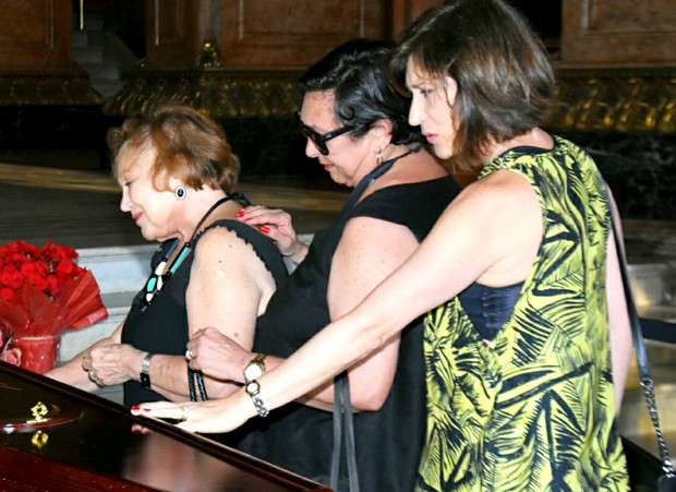 Nicette Bruno com as filhas Bárbara Bruno e Beth Goulart (Foto: AgNews)