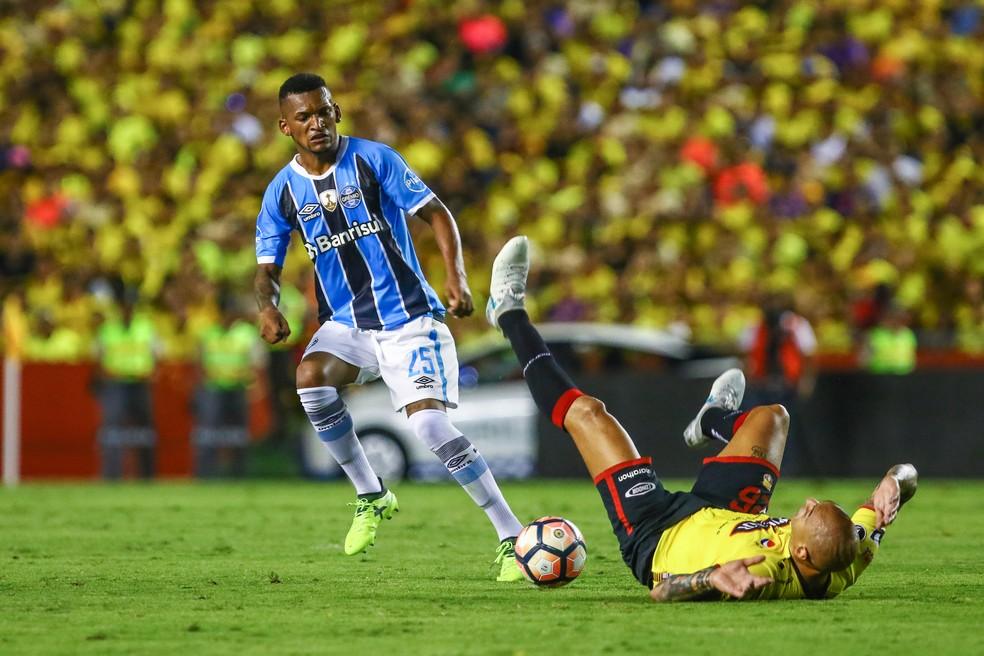 Jailson deve ser mantido no time titular  (Foto: Lucas Uebel/Grêmio/Divulgação)
