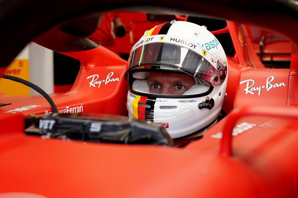 Sebastian Vettel no GP da Hungria de 2020 — Foto: Reprodução