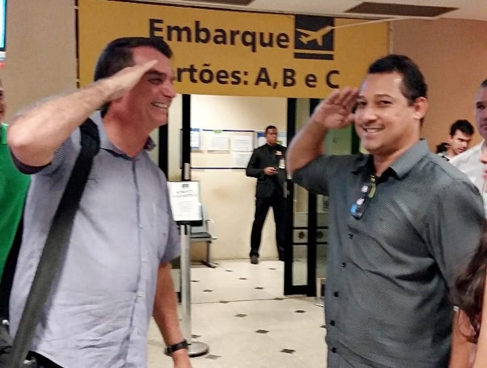 Vítima viajava para organizar evento que receberia o presidente Jair Bolsonaro — Foto: Reprodução