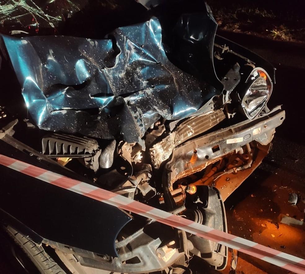 Acidente em vicinal mata motociclista de 19 anos entre Marília e Vera Cruz — Foto: Corpo de Bombeiros de Marília/Divulgação