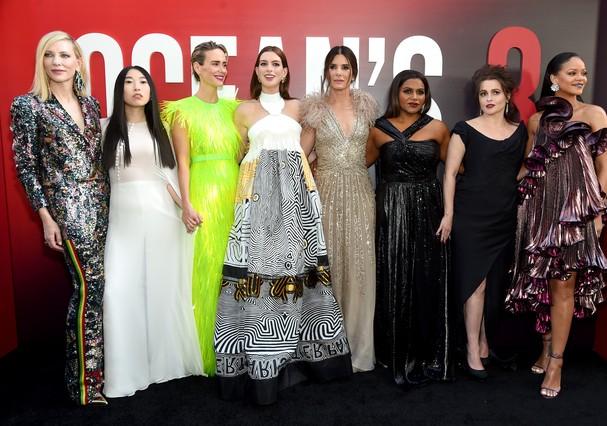"""O elenco de """"Oito Mulheres e Um Segredo"""" (Foto: Getty Images)"""
