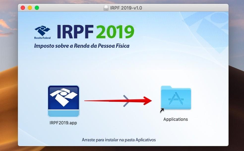 Instalando programa no macOS — Foto: Reprodução/Helito Beggiora