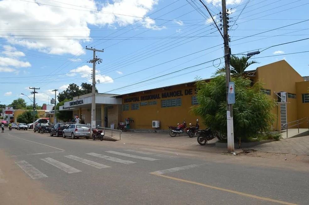 A moça foi levada para o Hospital Regional de Bom Jesus após a violência sexual. — Foto: Ascom