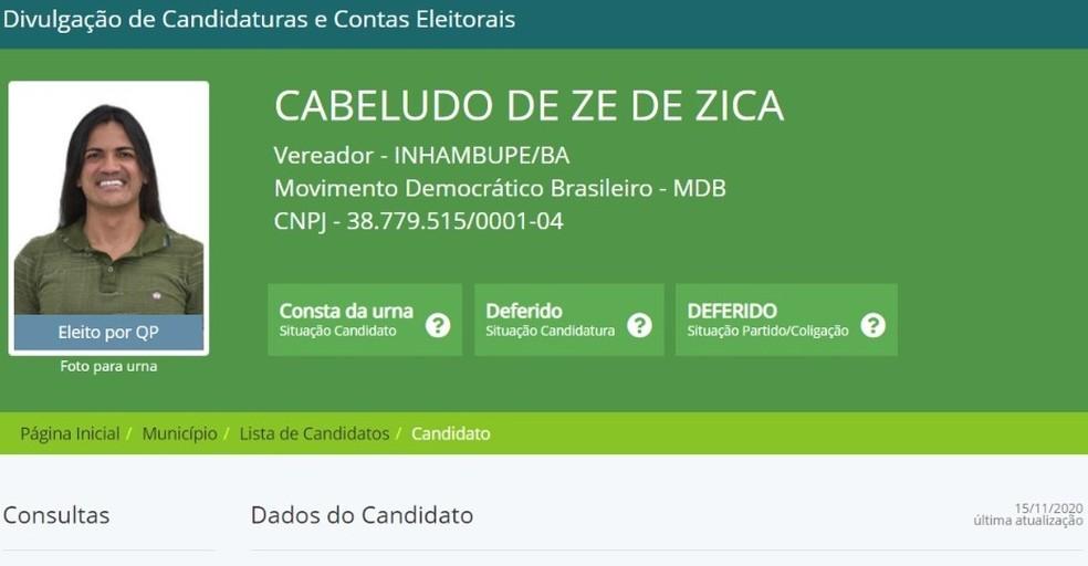 Vereador eleito e irmão são presos por agiotagem, extorsão e crime eleitoral na Bahia — Foto: DivulgaCand