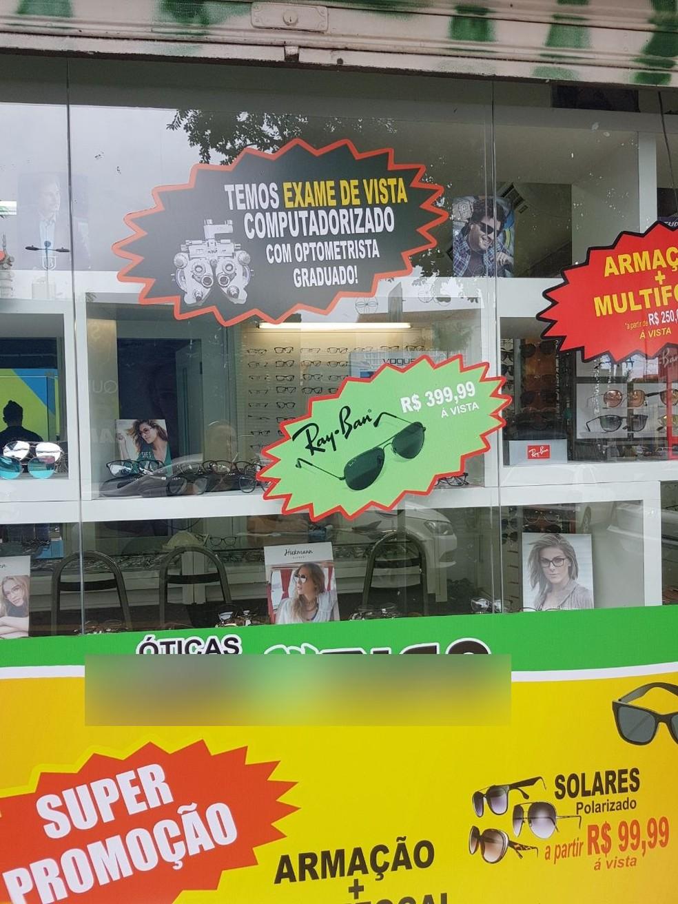Óticas que atuavam ilegalmente e faziam exames são alvos da polícia em Cuiabá (Foto: Polícia Civil de MT)