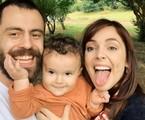 Titi Müller, o marido e o filho | Reprodução
