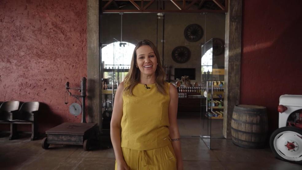 Gilka Mafra apresenta o programa Isso é Alagoas — Foto: Reprodução/TV Gazeta
