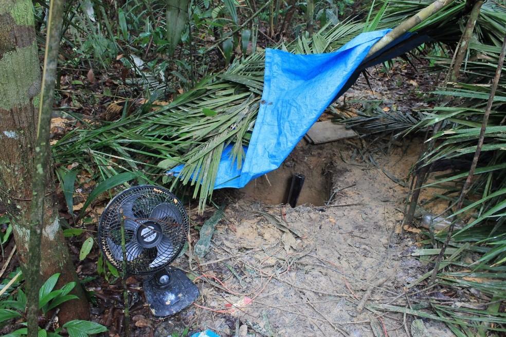 Túnel foi descoberto durante revista (Foto: Seap/Divulgação)