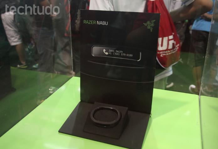 Razer Nabu na Brasil Game Show 2014 (Foto: Diego Borges / TechTudo)