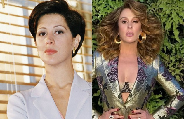 Escalada para 'Verão 90', Claudia Raia interpretou a empresária Angela Vidal. Conhecida pelos papéis cômicos, a atriz foi a vilã da trama (Foto: TV Globo / Reprodução )