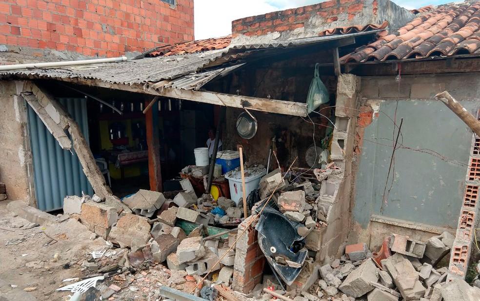 Não houve feridos na residência (Foto: Luciano Silva/Arquivo pessoal)