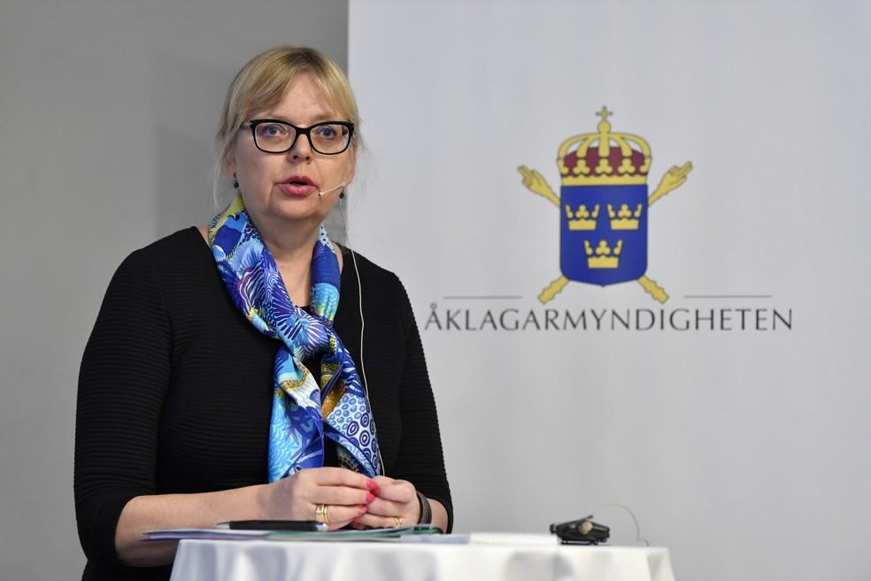 A vice-procuradora-chefe da Suécia, Eva-Marie Persson — Foto: Jessica Gow/TT via AP