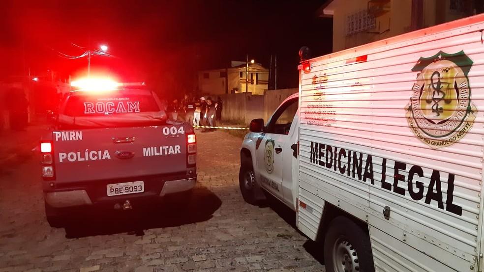 Homem foi vítima de Latrocínio na Rua Vereador Cícero de Azevedo, Lagoa Seca — Foto: Sérgio Henrique Santos / Intertv Cabugi