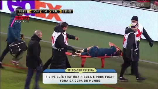 Kallás diz que Filipe Luís está fora da Copa e corre risco de perder até pré-temporada