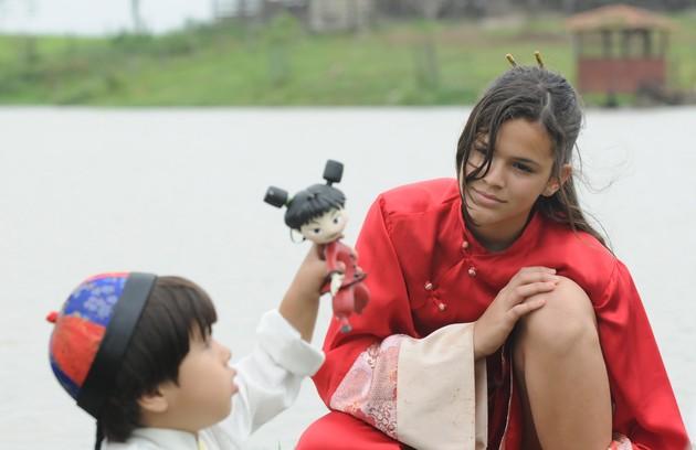 """Bruna foi Flor de Lys, uma apaixonada pela cultura oriental, em """"Negócio da China""""/ (Foto: Frederico Rozário/TV Globo)"""