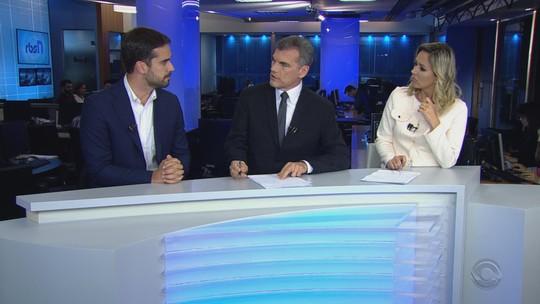Eduardo Leite, candidato ao governo do RS, é entrevistado no RBS Notícias