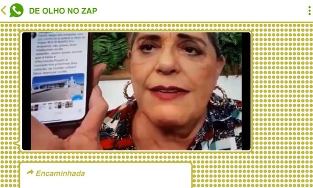 Vídeo da jornalista Leda Nagle repetindo notícia falsa sobre envolvimento do STF e de Lula no atentado contra Bolsonaro em 2018 se alastrou por chats bolsonaristas